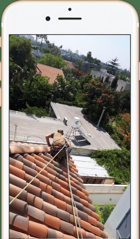 איטום גג משופע בעבודות סנפלינג כולל רשיון לעבודות גובה